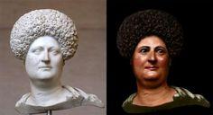 Pomalowane popiersie Rzymianki