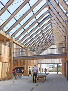 Timber Architecture, Architecture Portfolio, Sustainable Architecture, Architecture Design, University Architecture, School Architecture, Roof Design, Exterior Design, Portfolio D'architecture