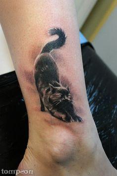 New Tattoos, Cool Tattoos, Tatoos, Cat Tat, Cat Things, Tattoo Inspiration, Neko, Something To Do, Horse