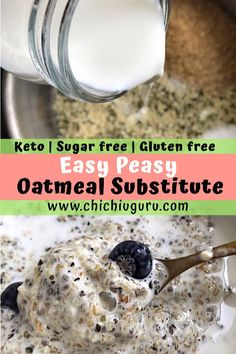 Keto Oatmeal Substitute - Low Carb Health Club Do you choose canned foods or dry foodstuff? What manufacturer? There are many distinct manufacturers, all s Best Low Carb Recipes, Low Carb Dinner Recipes, Good Healthy Recipes, Low Carb Cereal, Keto Cereal, Low Carb Oatmeal, Healthy Foods To Make, Best Diet Foods, Homemade Oatmeal