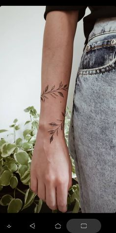 Wrap Around Wrist Tattoos, Wrap Around Tattoo, Wrap Tattoo, Cuff Tattoo, Flower Wrist Tattoos, Elegant Tattoos, Simplistic Tattoos, Dainty Tattoos, Pretty Tattoos