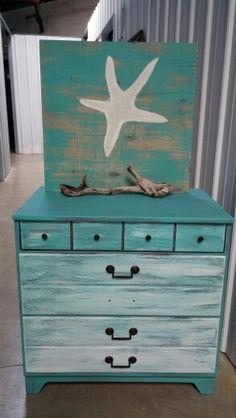 Beachy small dresser