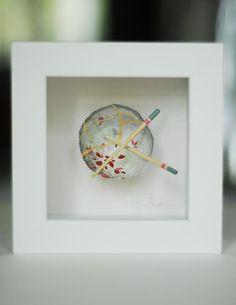 Kintsugi Eggshells Bowl and Chopsticks- 1 Framed Art, Japanese Art, Japanese, Visual, Pottery, Kintsugi, Art