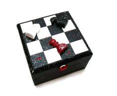 Gothic Chess Piece Keepsake Jewellery Box in Black by missbohemia, $11.00