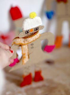 Upcycled Cardboard Dress Up Dolls Cardboard Crafts Kids, Recycled Crafts Kids, Fun Diy Crafts, Paper Crafts, Popsicle Stick Diy, Diy For Kids, Crafts For Kids, Kids Doll House, Craft Stash