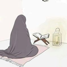 the most beautiful picture- la plus belle image the most beautiful picture - Muslim Pictures, Islamic Pictures, Anime Muslim, Muslim Hijab, Girl Cartoon, Cartoon Art, Tmblr Girl, Hijab Drawing, Islam Marriage
