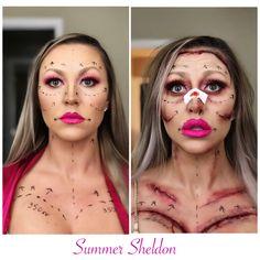 Botched Barbie bad surgery Halloween makeup