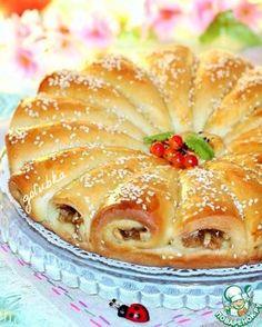 Рожковый пирог с яблоками
