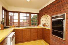 Kitchen overlooking the alfresco area