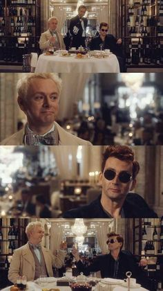 Can Adam, Crowley and Aziraphale work together to fight the powers of Heaven and Hell and prevent the apocalypse? Disney Channel, Cartoon Network, Good Omens Book, Fight The Power, Commonplace Book, Michael Sheen, Heaven And Hell, Good Spirits, Tv Times