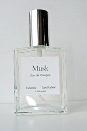 Musk by Excelsis. $27.00. two f;uid ounces. made with real, natural, essential oils. attractive, embossed, clear, glass bottle. fine mist pump spray. tasteful gift carton. Musk has a very complex aroma variously described as animalic, earthy, warm, woody, powdery. Its erotic and aphrodisiac qualities are legendary. Our Excelsis Musk includes pink grapefruit which imparts a freshness to the musky lingering undertone.