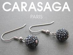 Boucles d'oreilles Eclipse noir en cristaux Swarovski®.