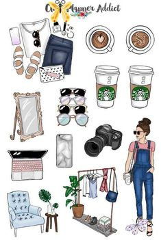 Blogger Babe Planner Stickers | Mystery Grab Bag July 2017 | Blogging Stickers | Lifestyle Stickers | Fashion Blogger Stickers (MGB-JUL17) Ayşe Naz Kürklü<br>