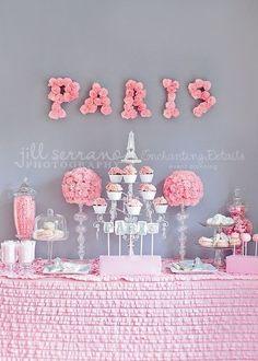 pinterest paris theme party | Pink Paris theme Kitchen tea