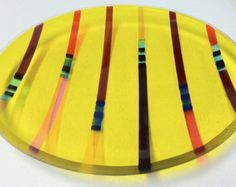 Items similar to Glass platter/bowl/serving plate on Etsy Fused Glass Plates, Fused Glass Art, Stained Glass, Glass Fusion Ideas, Slumped Glass, Glass Artwork, Bowl Designs, Plates And Bowls, Home Deco