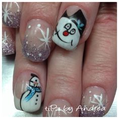 Freehand frosty  tiPz by Andrea Medicine Hat Alberta