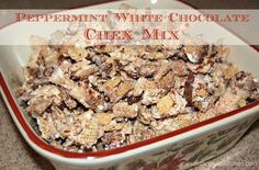 """Peppermint chex mix - it is okay, it was eaten.  I don't know that I will make it again though.  Better things that I would """"spend"""" calories on."""