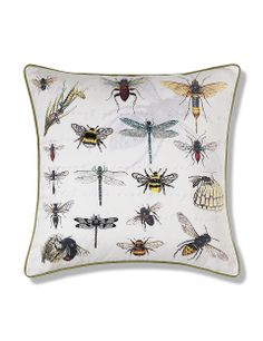 Embroidered Insect Cushion | M&S