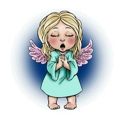 Angel Singing Carols Digi Stamp in Digital images