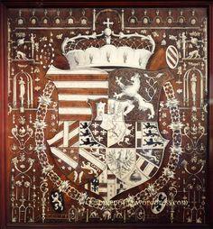 Coat of arms of Archduke Maximilian III, Castle Ambras, Innsbruck, Austria.