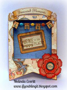 If You Bling It: Happy Place - Stamp of the Month Blog Hop #BalloonRide #MyCreationsPennantFrame