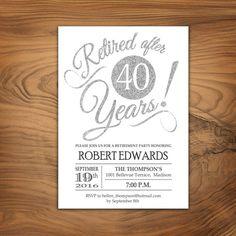 Retirement Party Invitations 50th 60th 70th Birthday | Retirement ...