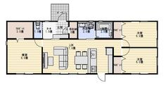 25坪3LDK家族で住む小さな平屋の間取り   平屋間取り