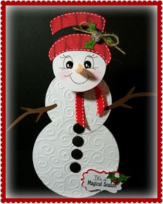 Tea light snowman door hanging...great winter teacher gift.