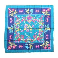 Gucci silk floral New old stock scarf | From a collection of rare vintage scarves at http://www.1stdibs.com/fashion/accessories/scarves/ $300.00