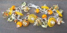 Sunshine Bracelet // Glass Charm Bracelet // Luxe by CloverBlueToo