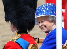 Queen Elizabeth attends the Trooping the Colour 2014