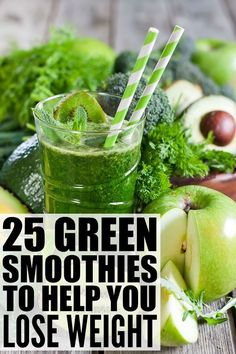 If you're looking for weight loss smoothies to help detox your body, curb your sugar cravings, boost your metabolism, increase your energy, and help you feel full to prevent mindless snacking, while also giving your body the vitamins and nutrients it needs, this collection of green smoothies to help you lose weight is for you! We've included 6 superfood ingredient suggestions and their associated health benefits, as well as 25 fabulous green smoothie recipes to help you mixed these up…
