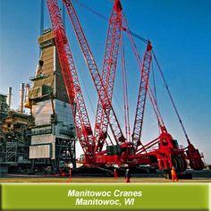 manitowoc cranes - Google Search Manitowoc County, Manitowoc Cranes, Crane Lift, Crawler Crane, Heavy Equipment, New Image, Techno, Porn, Industrial