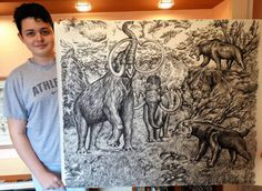 15-Year-Old Genius Draws Incredible Animals From Memory