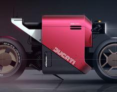 Robots & Characters on Behance Custom Metal Fabrication, Bike Sketch, Custom Street Bikes, Motorbike Design, Concept Motorcycles, Futuristic Motorcycle, Motorized Bicycle, Machine Design, Automotive Design