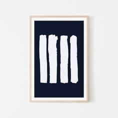 #Printable #poster White #brushstrokes on #indigo background #Digitaldownload #art #Blue #homedecor #ModernArt #HomeStyling #InteriorDesign #contemporaryart #DIYprint by #PandaAvenue on #Etsy Minimalist Poster, Minimalist Art, Abstract Shapes, Geometric Art, Modern Art, Contemporary Art, Single Line Drawing, Blue Artwork, Blue Home Decor