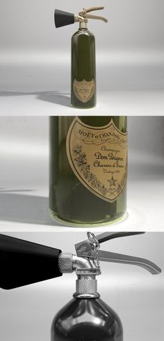 Champagne fire extinguisher