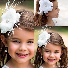 New Flower Girl Hair Accessories Children Tiaras Fashion Hair Flowers Wedding Dress Accessories Girls Cute Flower Princess Headwear, $8.2