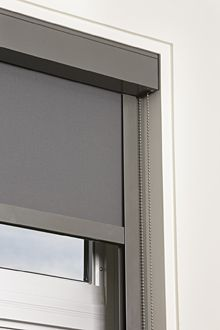 roller blind in headbox with side channels - Google Search