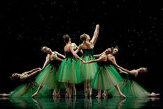 SF Ballet in Balanchine's Emeralds (Choreography by George Balanchine copyright, The Balanchine Trust, photo copyright by Erik Tomasson)