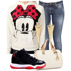 A fashion look from December 2012 featuring Forever 21 hoodies, Nudie Jeans Co. jeans and MICHAEL Michael Kors handbags. Browse and shop related looks.