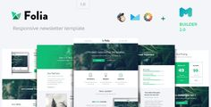 Folia - Modern Email Template   Builder 2.0 by Maileden  Mastermail Builder 2.0 ( Save & Edit Later ) Export to Desktop as Responsive HTML, MailChimp , CampaignMonitorSave your copy for further change and save time!Responsive LayoutUnlimited Color Variation Weekly updates and bonuses