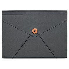 10 mm Black Cardboard Document Folder