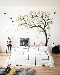 Bedroom Kids Room Maple Enterprise Little Kitten on a Branch Large HD Wall Decoration Vinyl Sticker livingroom