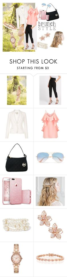 """""""Mother's Day brunch"""" by k4fitnesskrystal ❤ liked on Polyvore featuring Hobbs, Miss Selfridge, Michael Kors, Ray-Ban, Kenneth Jay Lane, NAKAMOL and Bling Jewelry"""