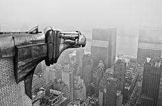 Iron eagle deco detail on the Chrysler Building