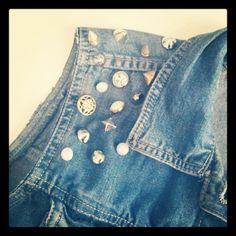 (studs and pearls)  DIY denim vest