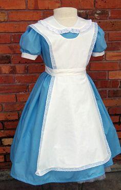 Girls Alice in Wonderland costume for Halloween by MissEmCostumes Purim Costumes, Girl Costumes, Halloween Costumes, Costume Ideas, Little Girl Dresses, Girls Dresses, Disney Dresses, Alice Costume, Alice Cosplay