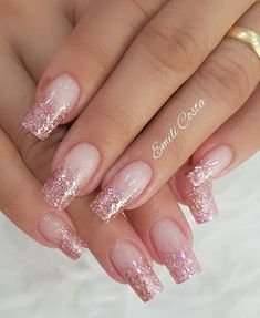 100 Beautiful wedding nail art ideas for your big day - wedding nails bride nails nail art romantic nails pink nails Cute Acrylic Nails, Acrylic Nail Designs, Cute Nails, Pretty Nails, Nail Art Designs, Wedding Nails For Bride, Bride Nails, Wedding Nails Design, Nail Wedding