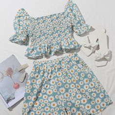 Teenage Girl Outfits, Girls Fashion Clothes, Teen Fashion Outfits, Cute Fashion, Girl Fashion, Casual Outfits, Fashion Design, Two Piece Dress, Two Piece Outfit